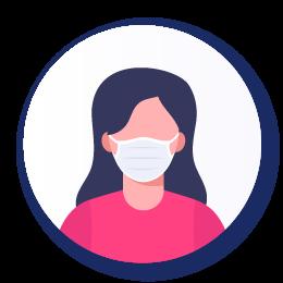 Icona indossare mascherina